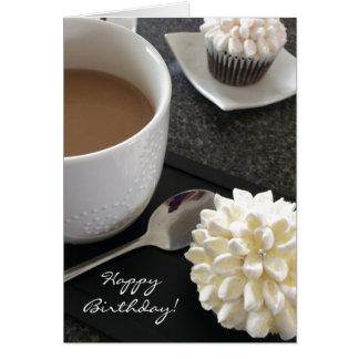 Cartão Cupcakes e café deliciosos