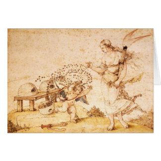 Cartão Cupido o ladrão do mel