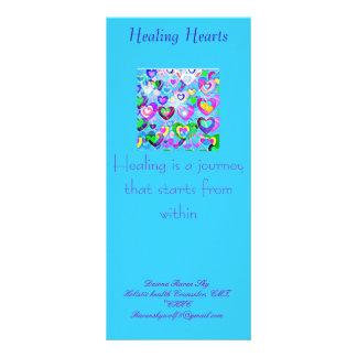 Cartão cura da cremalheira dos corações 10.16 x 22.86cm panfleto