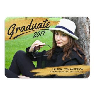 Cartão Cursos pintados graduação 2017 da escova do preto