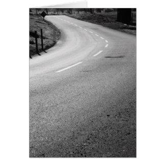 Cartão Curvy da estrada, cartão de nota