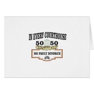 Cartão custódia 50 50 em cada tribunal
