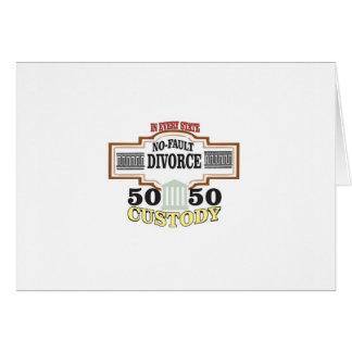 Cartão custódia 50 50 no casamento