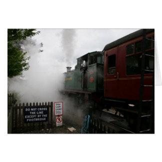 Cartão Customisable do trem do vapor