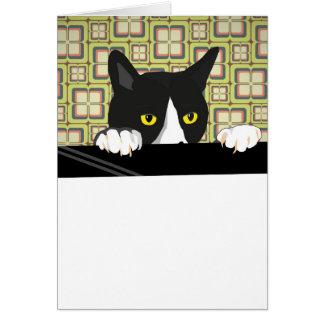 Cartão Customisable dos desenhos animados do gato