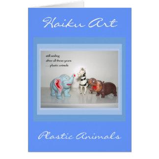 Cartão customizável animal dos haicais do vintage