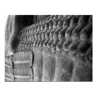 Cartão customizável Assyrian da escultura |