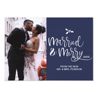 Cartão Customizável, casado e alegre, Natal, foto