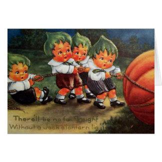 Cartão customizável da abóbora dos miúdos do Dia