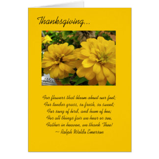 Cartão customizável da acção de graças