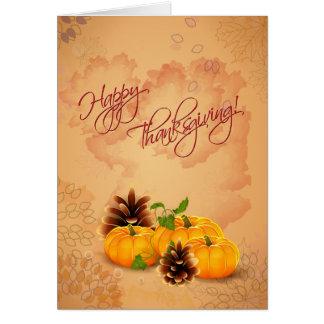 Cartão customizável da acção de graças com