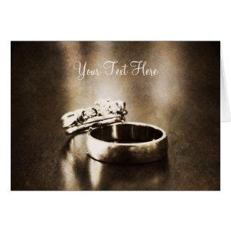 Cartão customizável da aliança de casamento