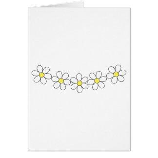 Cartão customizável da corrente de flor da