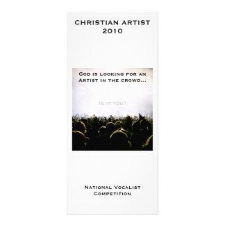Cartão customizável da cremalheira do artista 2010 10.16 x 22.86cm panfleto