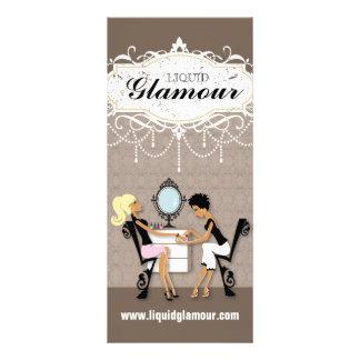 Cartão customizável da cremalheira do salão de bel modelo de panfleto informativo