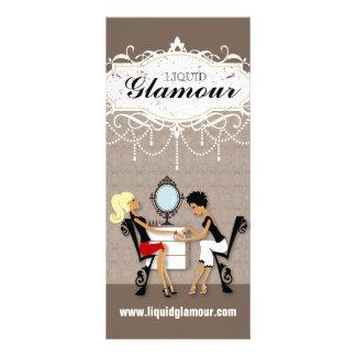 Cartão customizável da cremalheira do salão de bel modelos de panfletos informativos