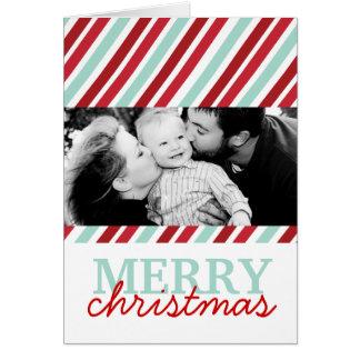 Cartão customizável da foto do Natal do