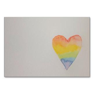 Cartão customizável da mesa do coração do
