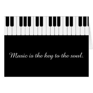 Cartão customizável da música do piano