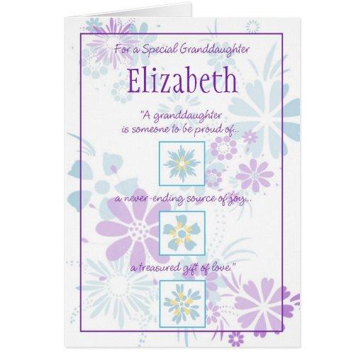 Cartão customizável da neta especial