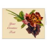 Cartão customizável das flores bonitas
