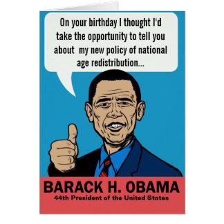 Cartão customizável de Barack Obama