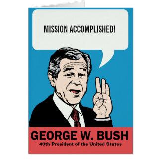 Cartão customizável de George W. Bush