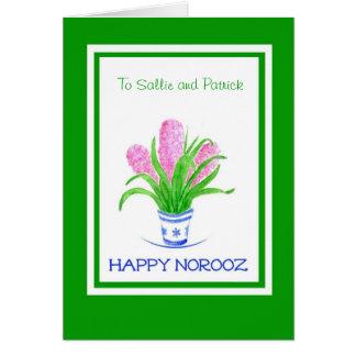 Cartão customizável de Norooz - jacintos