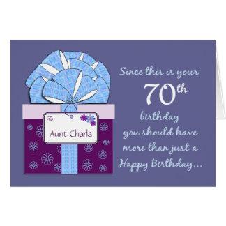cartão customizável do aniversário do 70