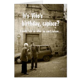 Cartão customizável do aniversário engraçado da