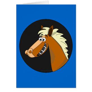 Cartão customizável do cavalo do piano (azul)