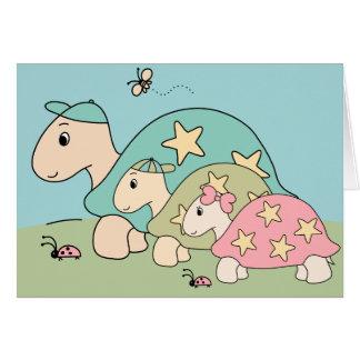 Cartão customizável do dia dos pais da tartaruga