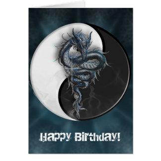 Cartão customizável do dragão chinês de Yin Yang