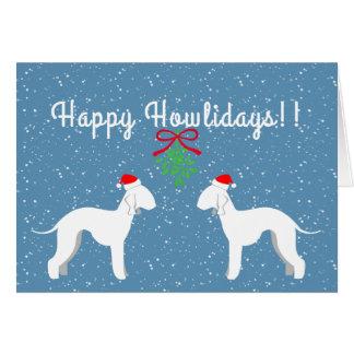 Cartão customizável do feriado de Bedlington