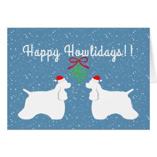 Cartão customizável do feriado de cocker spaniel