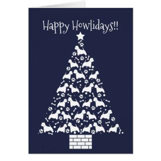 Cartão customizável do feriado de Westie