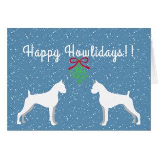 Cartão customizável do feriado do pugilista