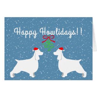 Cartão customizável do feriado do Spaniel de