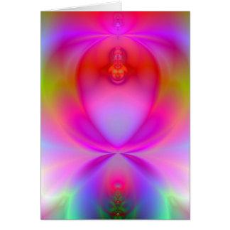 Cartão customizável do Fractal do fulgor do anjo
