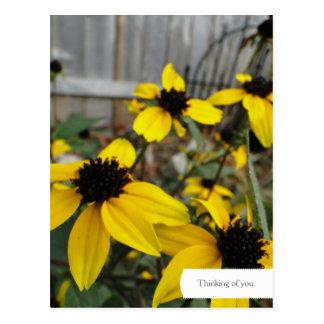 Cartão customizável do jardim de Susan de olhos