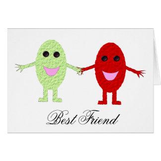Cartão customizável do melhor amigo