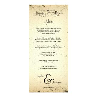 Cartão customizável do menu do casamento do