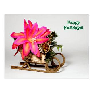 Cartão customizável do Natal de Epiphyllum