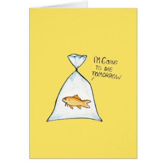 Cartão customizável | do peixe dourado engraçado