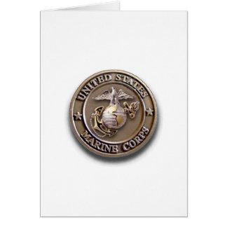 Cartão customizável do selo do USMC para alguma