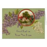 Cartão customizável do vintage - adicione seu text