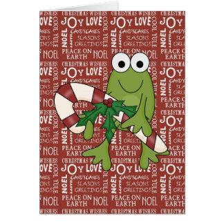 Cartão customizável dos feriados Hoppy do sapo