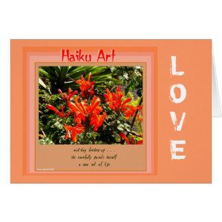 Cartão customizável dos haicais da laranja e do