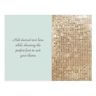 Cartão customizável dos Sequins do ouro