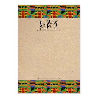 Cartão customizável tribal do partido Invite/RSVP Convite 8.89 X 12.7cm